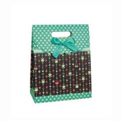 Bag Gift Medium Teal Floral