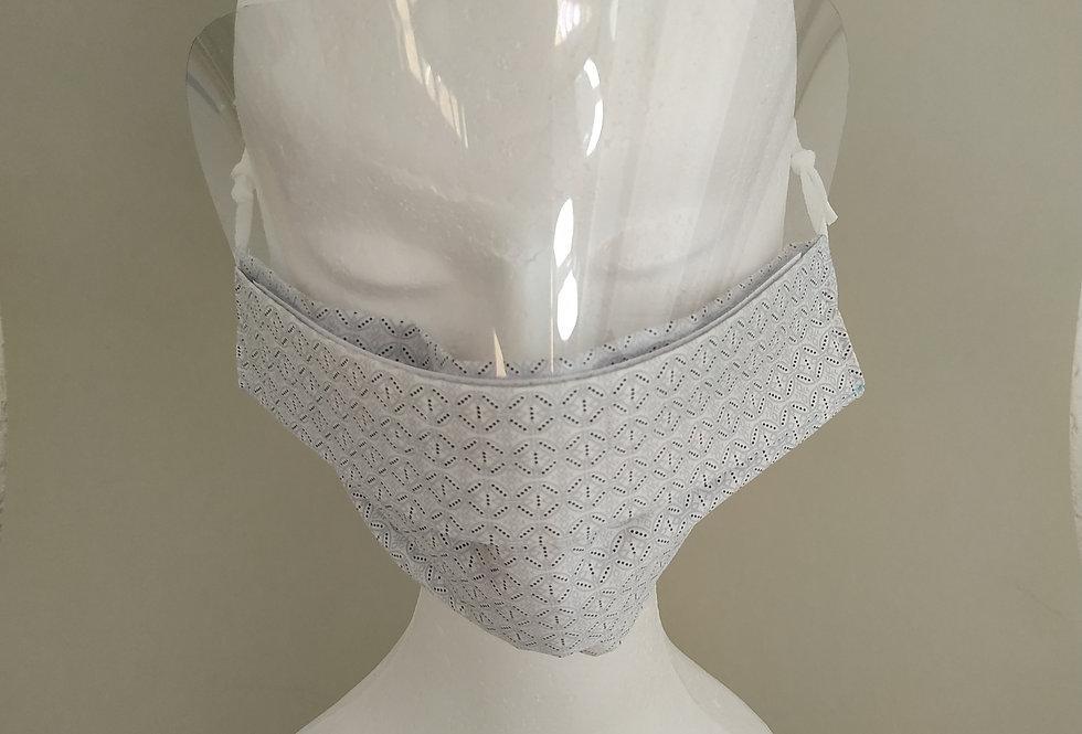 10 Nasen-Mund-Stoffmaske mit Visier