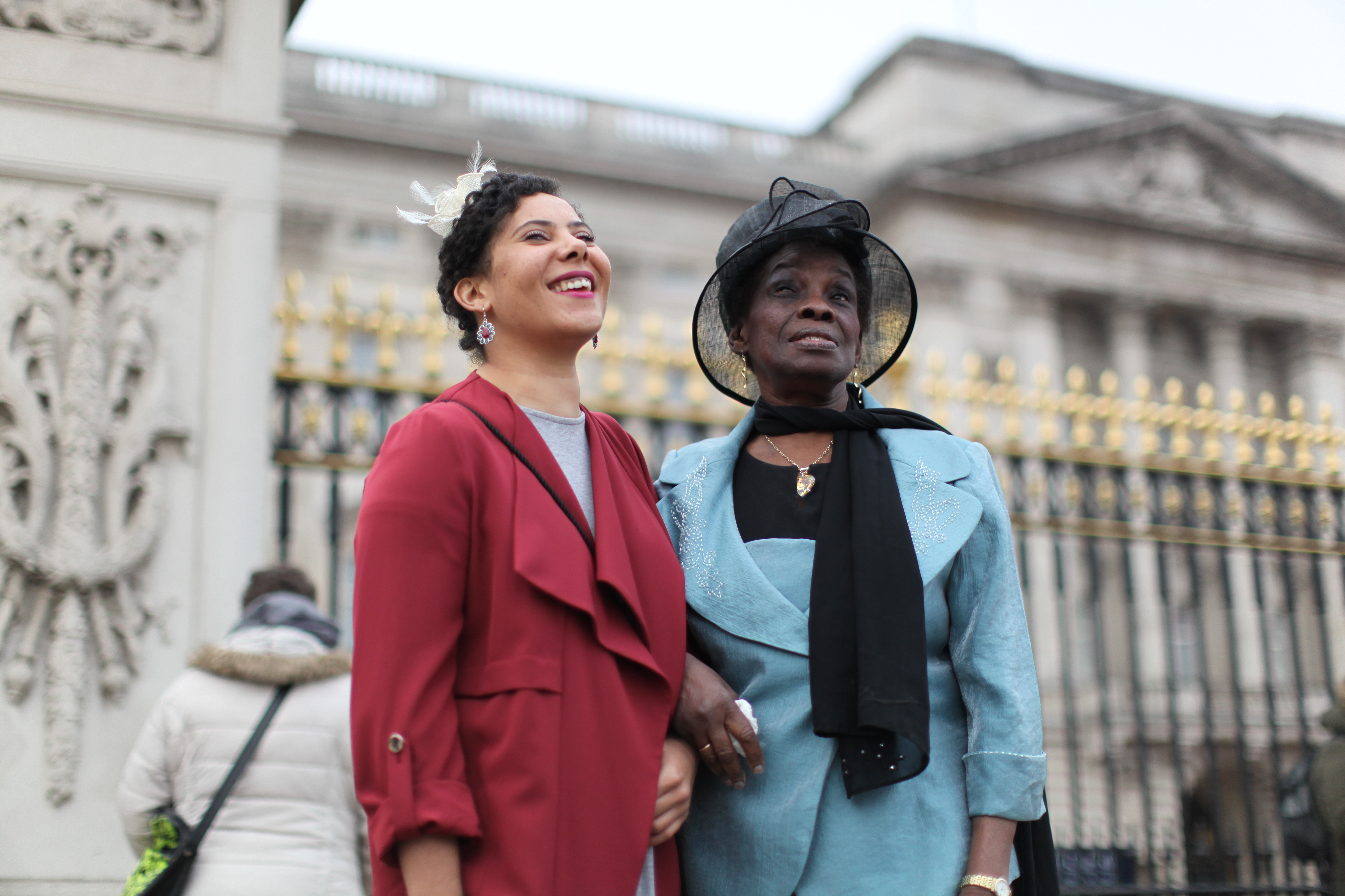 Sister Hannah and Grandmother Alift Harewood on her OBE, Buckingham Palace 2016