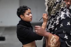 Michaela on set Farai 'Lion Warrior' Video 2016