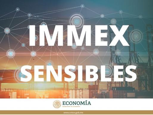 Empresas IMMEX autorizadas para la importación de mercancías sensibles