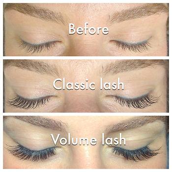 classic vs volume lash extensions
