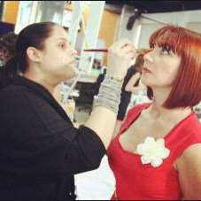 Makeup on set of Mia Mundo Season 1