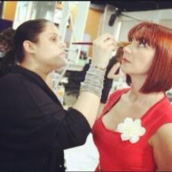 Makeup on set of Mia Mundo Season 1