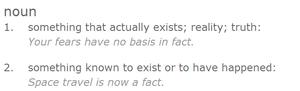 Fact, Dictionary.com