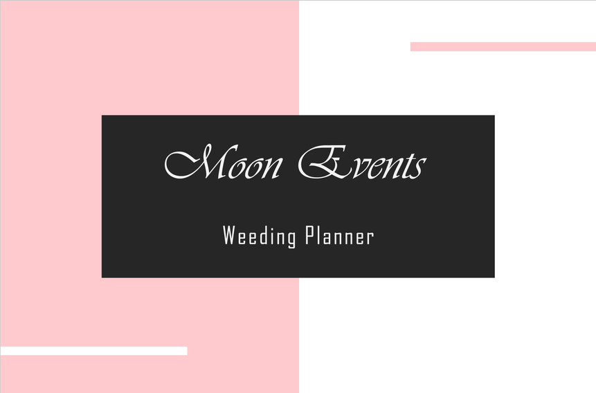 carte de visite weeding planner