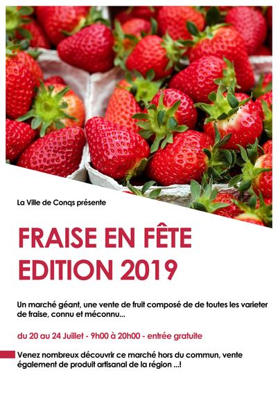Affiche Marché aux fraises