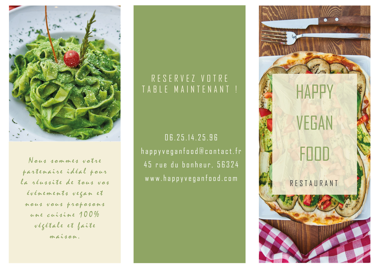 Flyer restaurant vegan