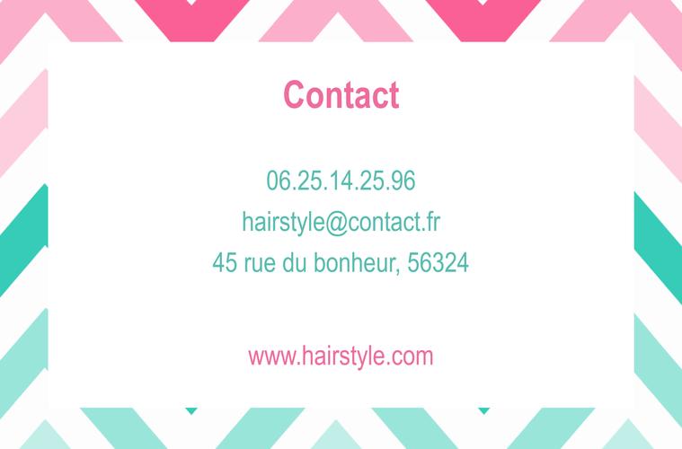 carte de visite coiffeur