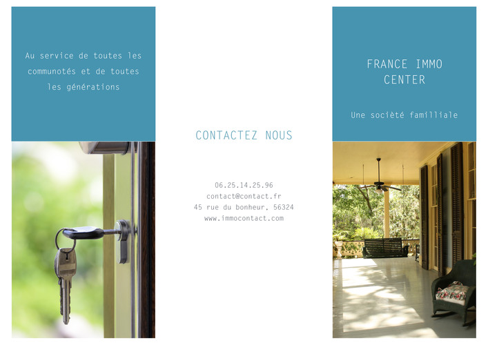Flyer Agence Immobilière