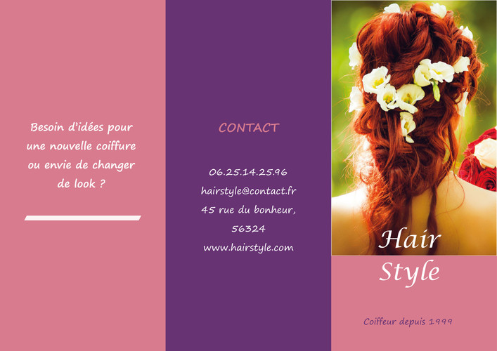 Flyer Coiffeuse