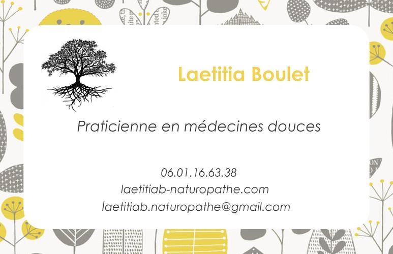 Carte de visite Laetitia Boulet