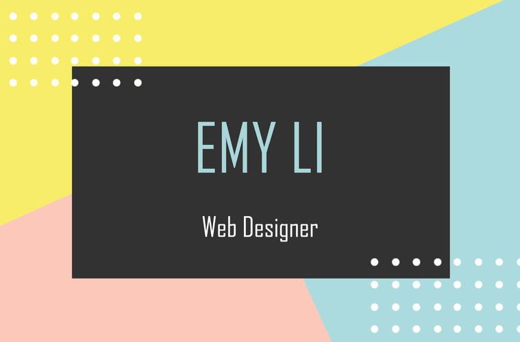 carte de visite web designer