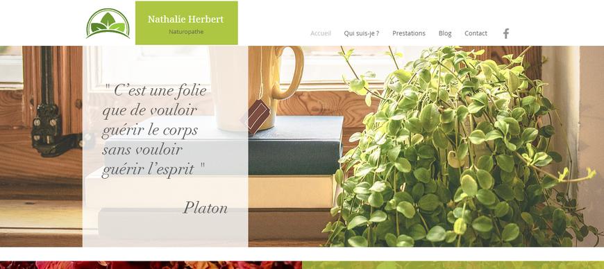 Site Internet Nathalie Herbez