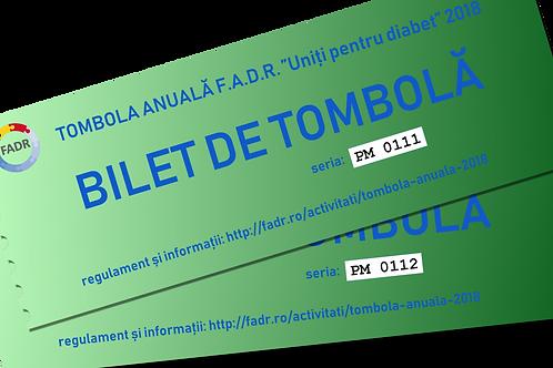 Bilete de tombolă pentru personal medical (35 lei / bilet).