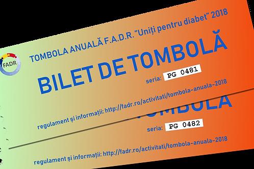 Bilete de tombolă pentru publicul larg (50 lei / bilet).