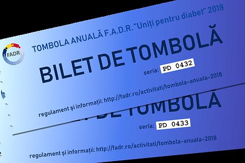 Bilet de tombolă pentru persoane cu diabet (25 lei / bilet).