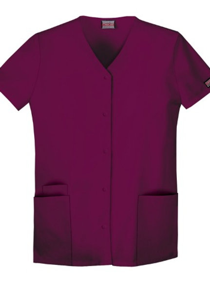 Cherokee Workwear Scrubs Women's Snap Front Top