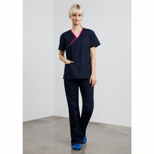 LADIES CROSSOVER SCRUBS TOP