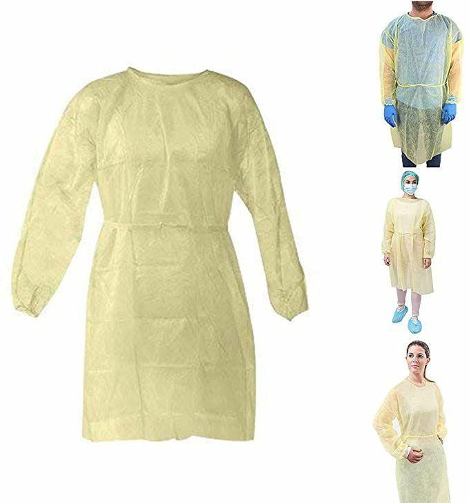 Nonwoven isolation gown