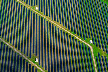 Photo drone panneaux solaires