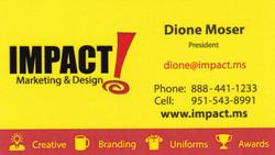 Moser, Dione Impact