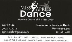 April Vidal Business Card