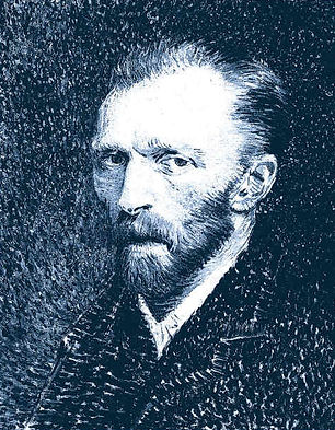 Self portrait by Vincent Van Gogh 1886-87