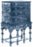 High Chest of Drawers, New England 1700 - 1725
