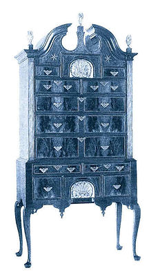Queen Anne Hartshorn Walnut High Chest, 1739