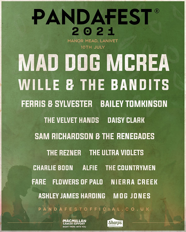 Line Up bodmin music festival