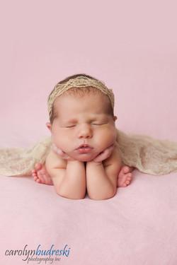 Calgary newborn froggy pose