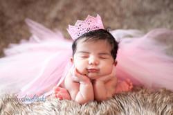 princess newborn crown photo