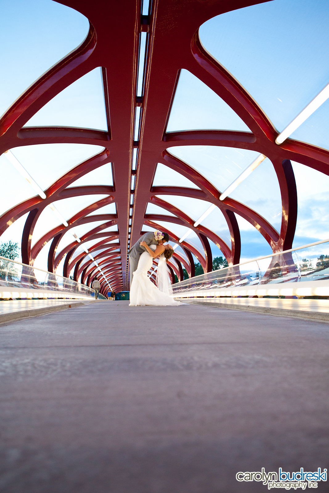 Calgary Wedding Photo Peace Bridge