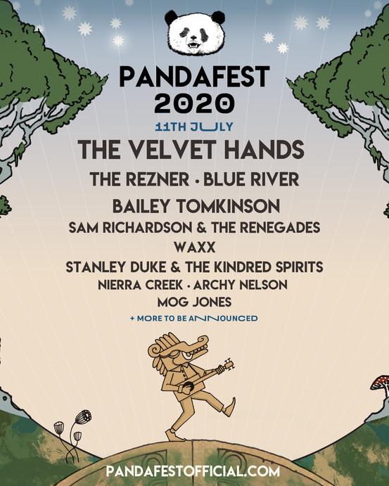 PandaFest 2020 Music Festival Line up