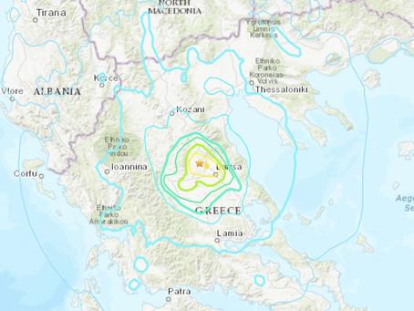 Travel Safety Alert: Earthquake Týrnavos, Greece