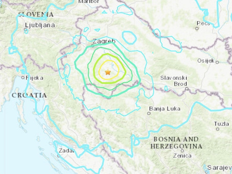 Travel Safety Alert - Earthquake, Petrinja Croatia