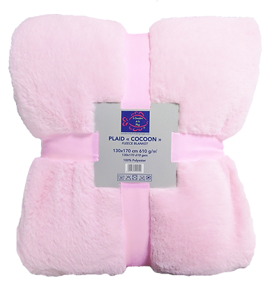 PLAID COCOON 610g/m² - PINK