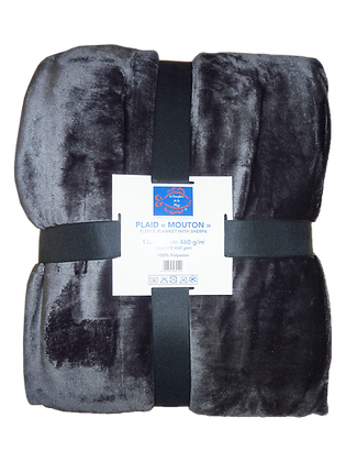PLAID MOUTON 460g/m² -ANTHRACITE
