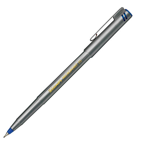 Luxor Fineliner Silver Body, Blue 0.5MM - Box 10