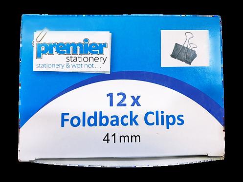 Premier Foldback Clips 41 MM - Box 12