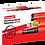 Thumbnail: Luxor Jumbo Permanent Marker 810, Red - Box 6