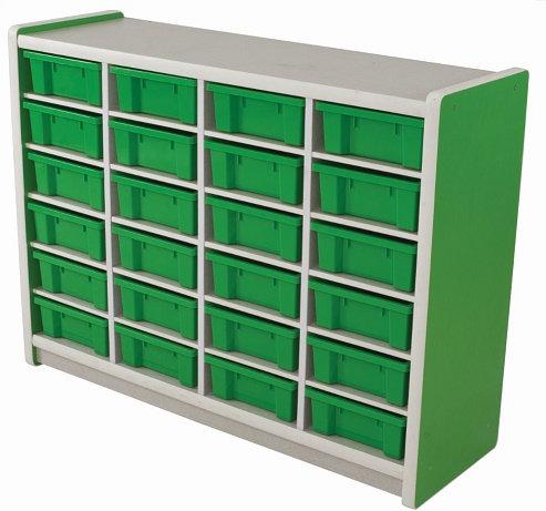 Kids Smart Storage Unit 24 Compartment Green