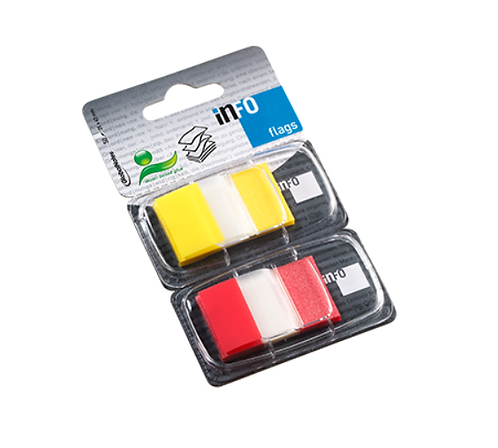 Flags Colour Tip Yellow & Red, 2x 50 Sheets