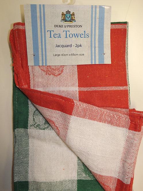 2 Duke & Preston Jacquard Tea Towels - PK 1