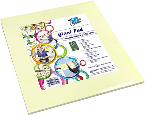 Global Notes 8754-01 Creative Giant Repositionable Sticky Notes 300 x 300 mm