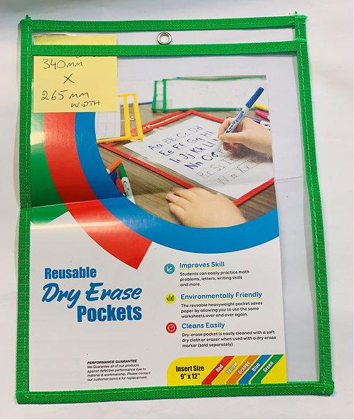 Reusable Dry Erase Pockets