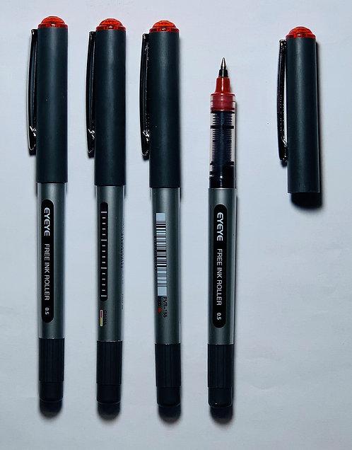 Eyeye Roller Ball Pen, Red, 0.5mm - Box 12
