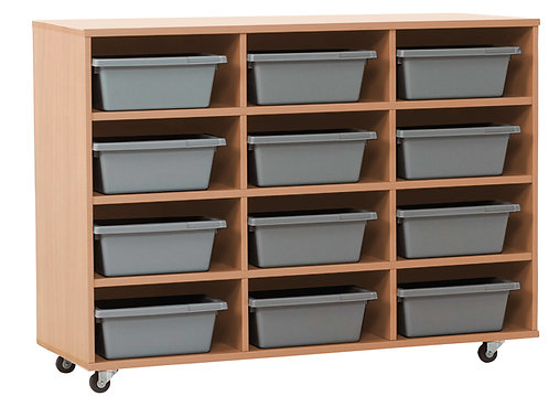 Mobile Tote Tray Cabinet Select Beach