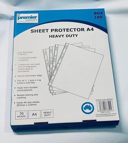 Premier Sheet Protector A4 Heavy Duty
